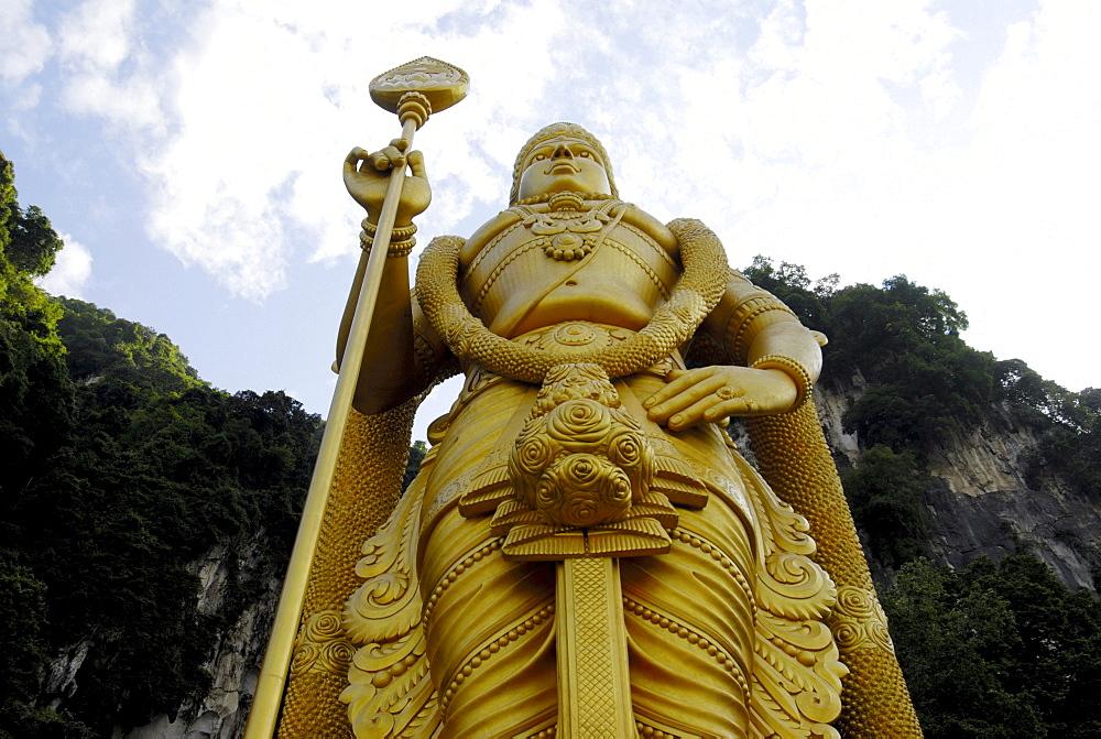 Huge image of Subramanya at the entrance to the Batu Caves, Kuala Lumpur, Malaysia, Southeast Asia, Asia