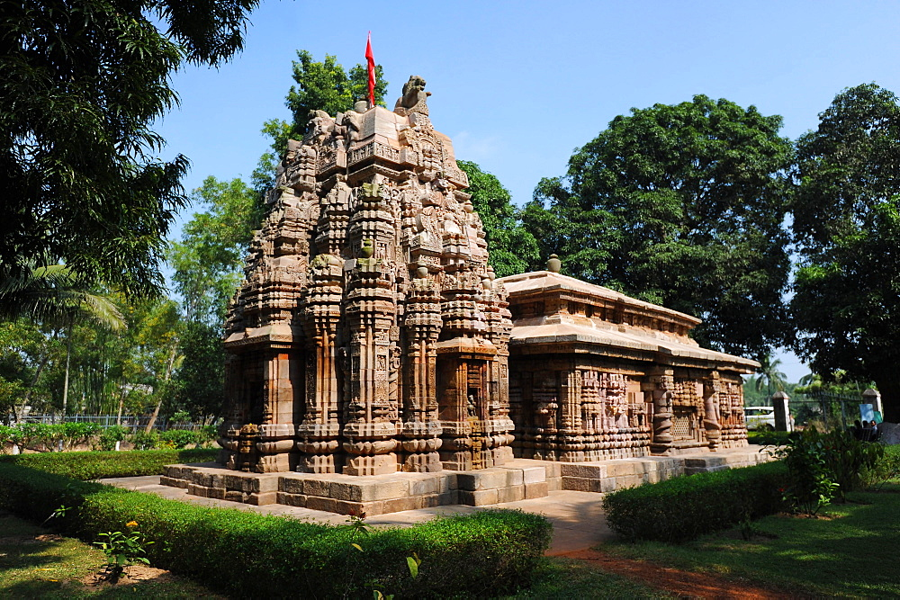 Vimana, end of the 10th century sandstone Varahi temple dedicated to Varaha, Chaurasi, Prachi Valley, Odisha, India, Asia
