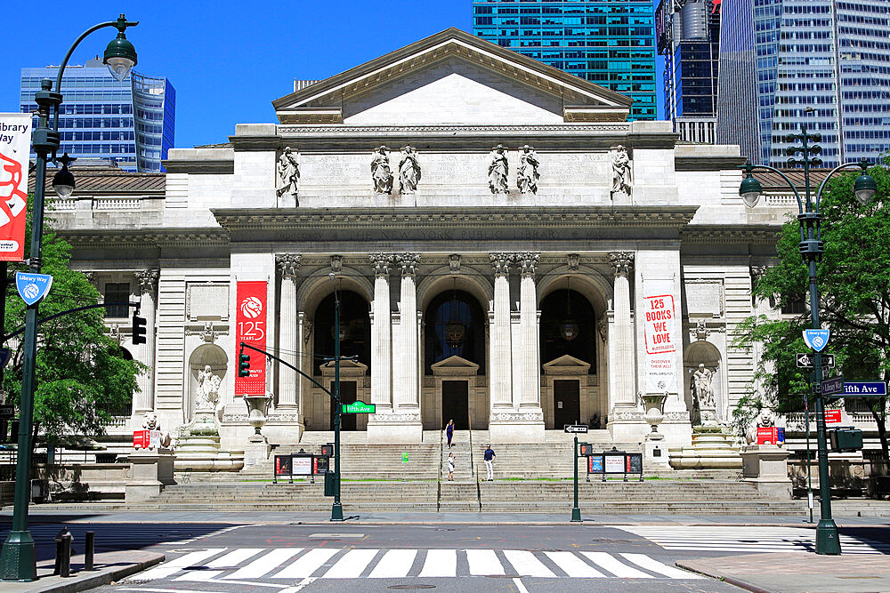 New York Public Library, Stephen A. Schwarzman building, 5th Avenue, Midtown Manhattan, New York City, New York USA - 807-2042