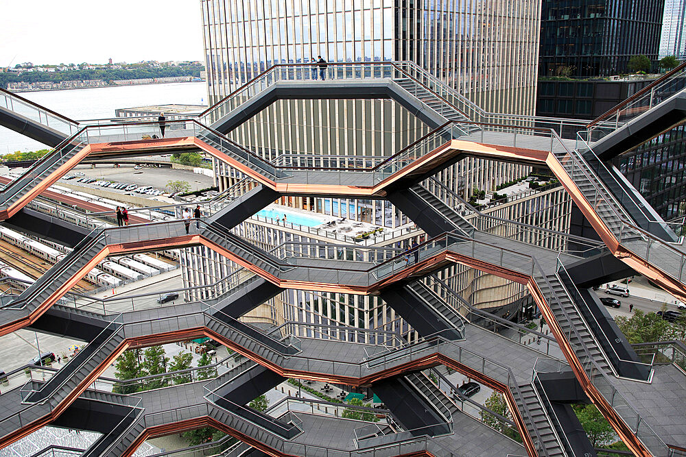 Interior, The Vessel, Staircase, Hudson Yards, Manhattan, New York City, New York, USA - 807-2048