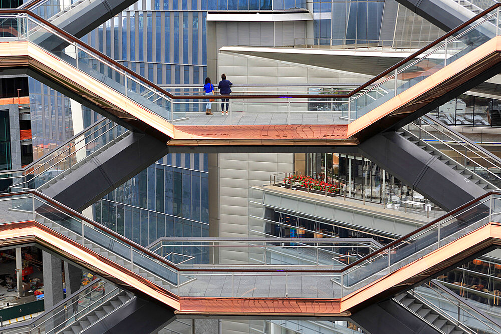 Interior, The Vessel, Staircase, Hudson Yards, Manhattan, New York City, New York, USA - 807-2050