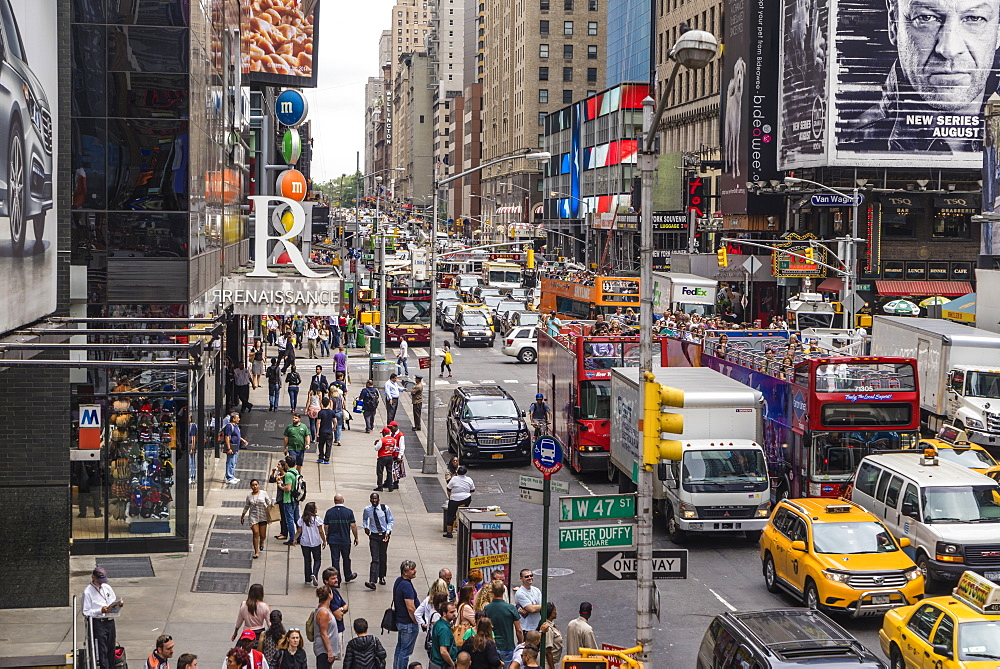 Times Square, Theatre District, Midtown, Manhattan, New York City, New York, United States of America, North America