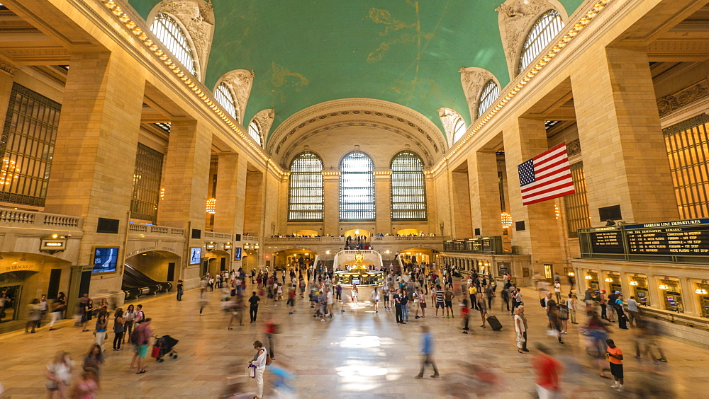 The main concourse of Grand Central Station, Manhattan, New York, United States of America, North America