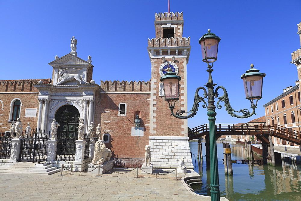 The Porta Magna, Arsenal, Venice, UNESCO World Heritage Site, Veneto, Italy, Europe