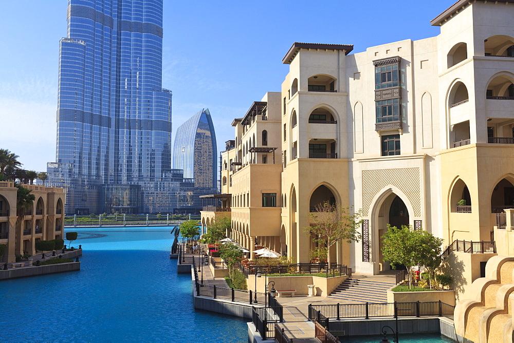 The Palace Hotel and Burj Khalifa, Downtown, Dubai, United Arab Emirates, Middle East