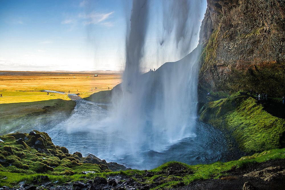 Seljalandsfoss waterfall. Iceland.