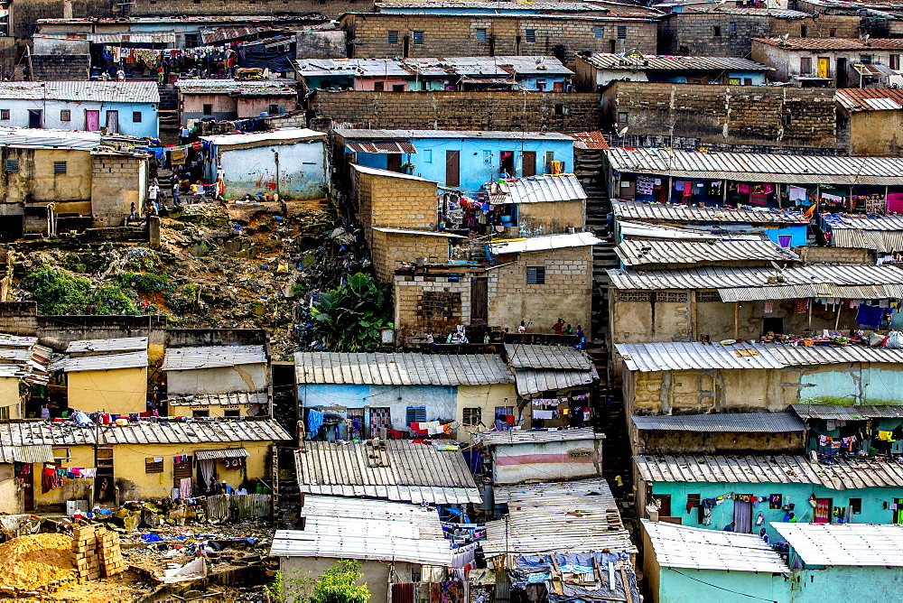 Slums in Abidjan, Ivory Coast.