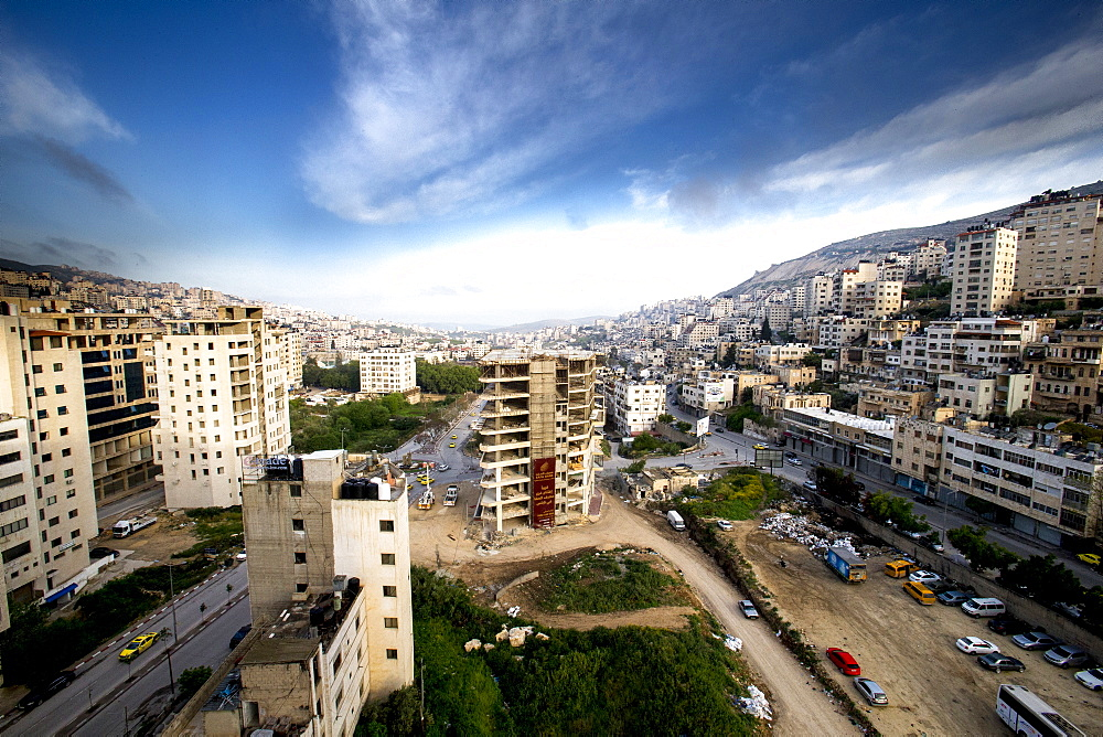 Nablus city center, West Bank, Palestine.