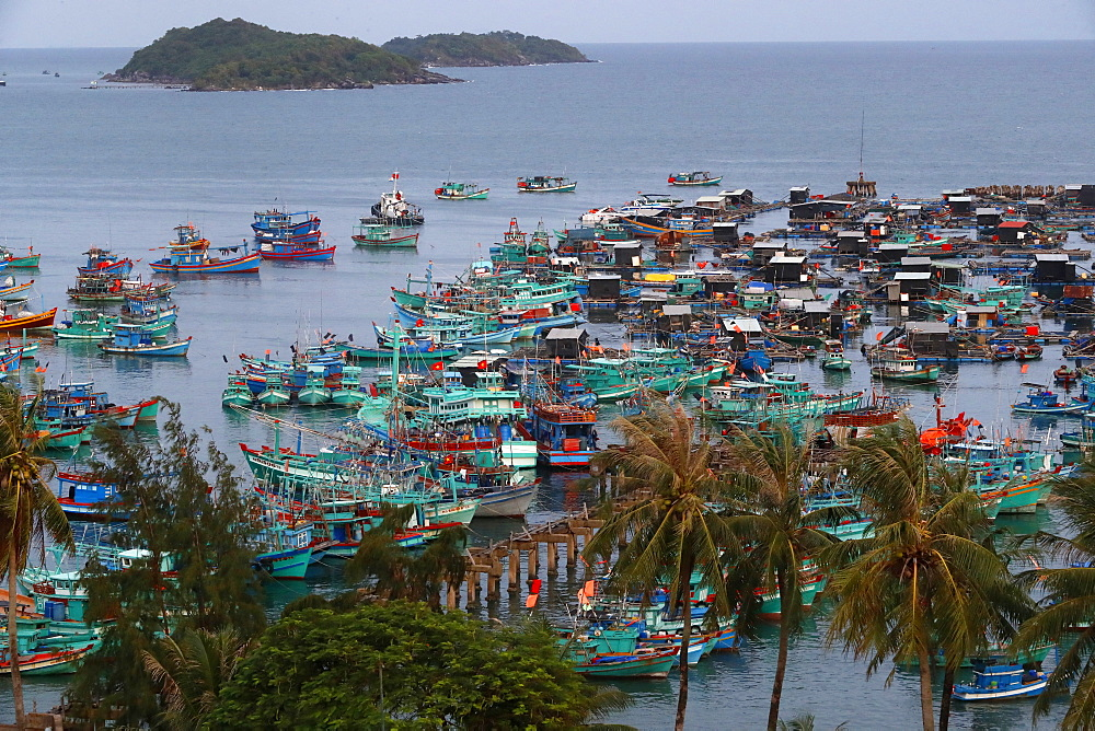 Fishing boats, An Thoi harbour, Vietnam, Indochina, Southeast Asia, Asia - 809-7633