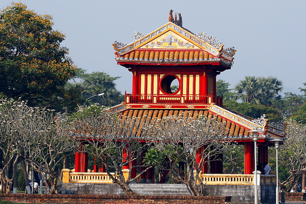 The imperial city. Tradional pavilion. UNESCO World Heritage Site. Hue. Vietnam.