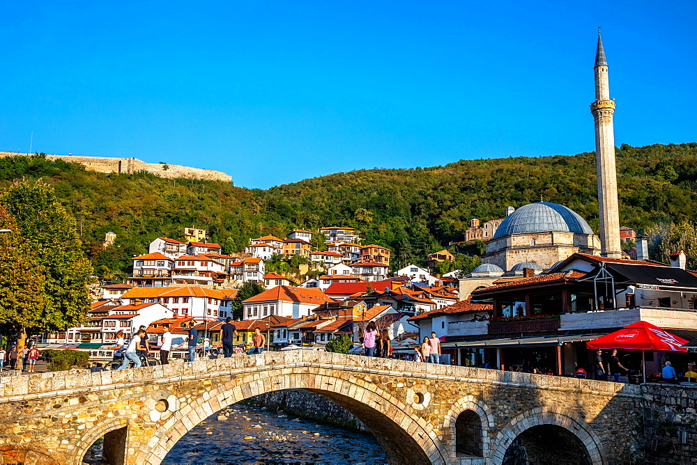 Stone bridge, Prizren, Kosovo, Europe - 809-7946