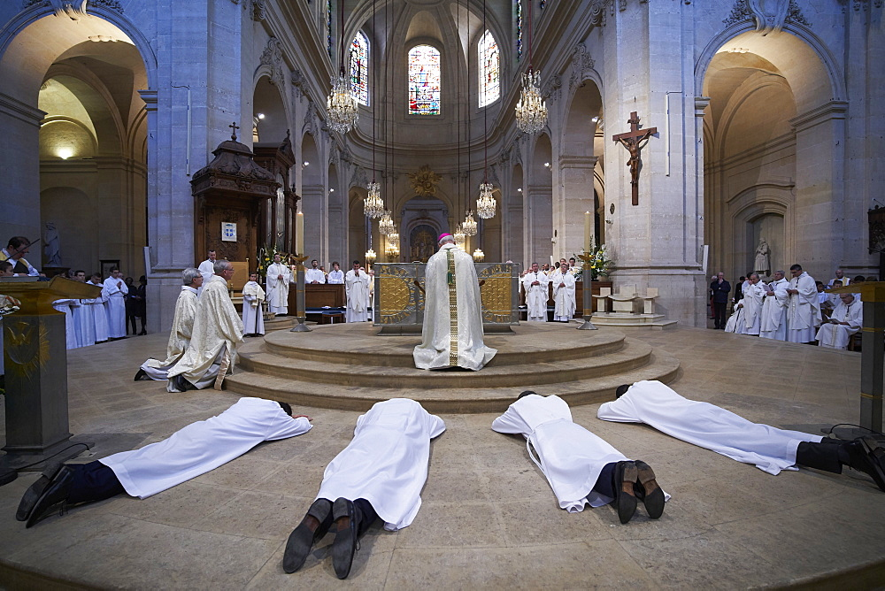 Deacon Ordinations in St. Louis Cathedral, Versailles, Yvelines, France, Europe