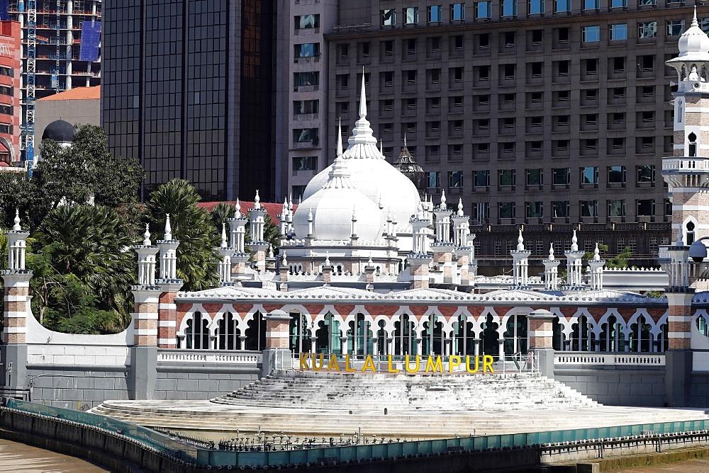 Jamek Mosque (Masjid Jamek Sultan Abdul Samad), Kuala Lumpur, Malaysia, Southeast Asia, Asia