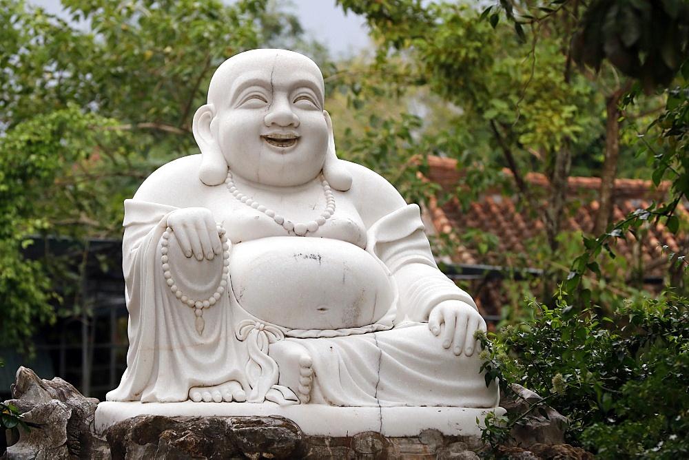 Thien Ung Buddhist temple, smiling Maitreya Buddha, big happy Maitreya Buddha statue, Quy Nhon, Vietnam, Indochina, Southeast Asia, Asia - 809-8134