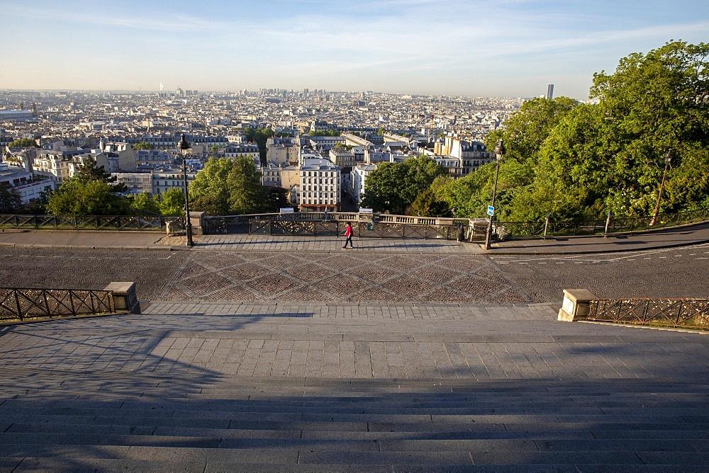 Paris seen from the Sacred Heart (Sacre Coeur) Basilica, Paris, France, Europe - 809-8157
