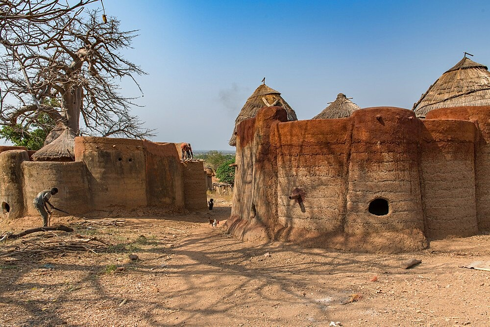 Earth tower house, called takienta, of Batammariba people in Koutammakou region, La Kara, Togo, West Africa, Africa - 809-8160