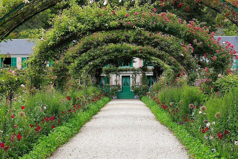 Claude Monet's house and garden in Giverny, Eure, France, Europe - 809-8171