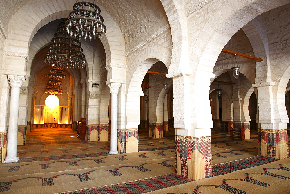 Prayer hall of the Great Mosque, Medina, Sousse, Tunisia, North Africa, Africa - 813-207