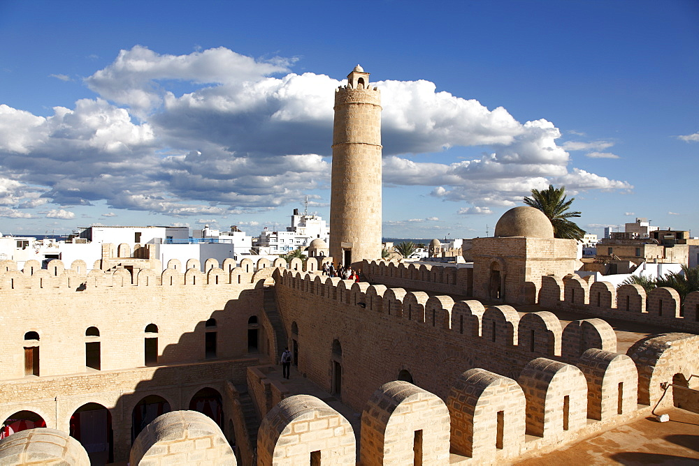 Ribat, monastic fortress viewed from the roof, Medina, Sousse, Tunisia, North Africa, Africa - 813-208