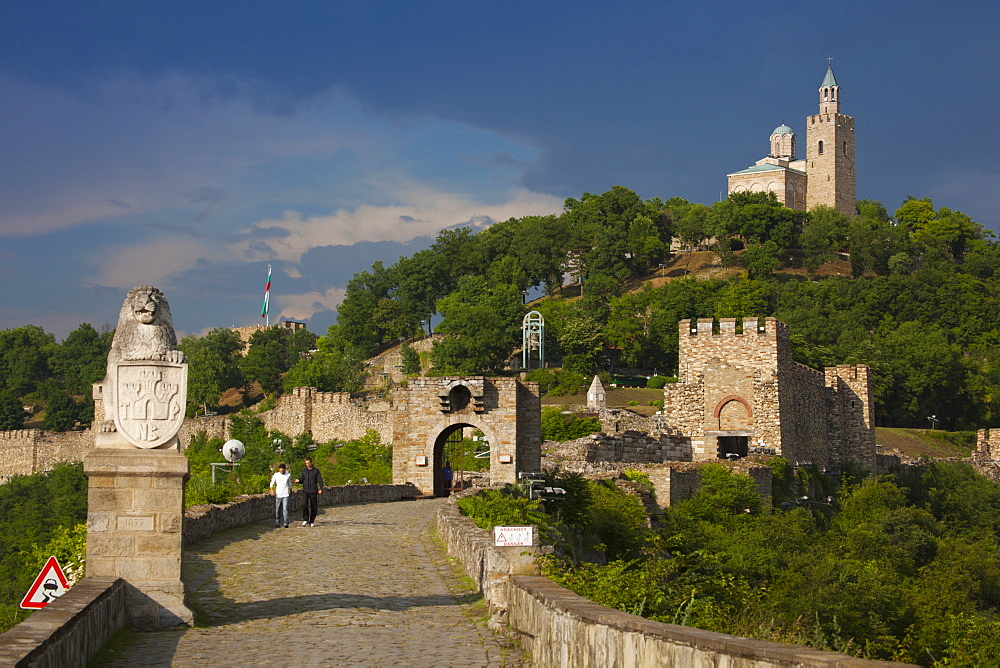 Fortress of Tsarevets, Main Gate, Church of the Blessed Saviour and Patriarchal Complex, Veliko Tarnovo, Bulgaria, Europe - 813-273