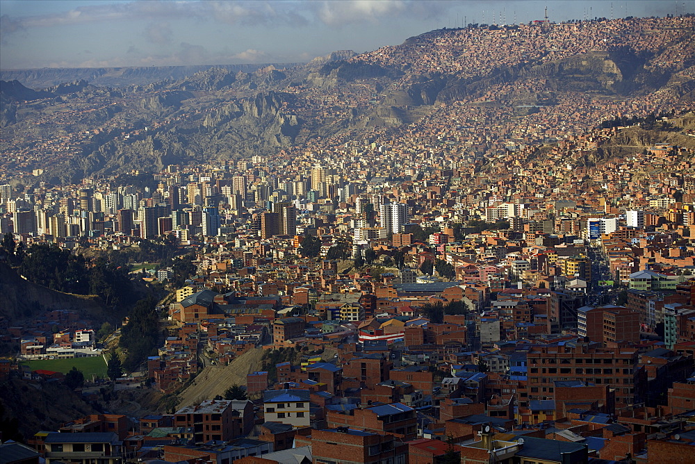 View over city, La Paz, Bolivia, South America