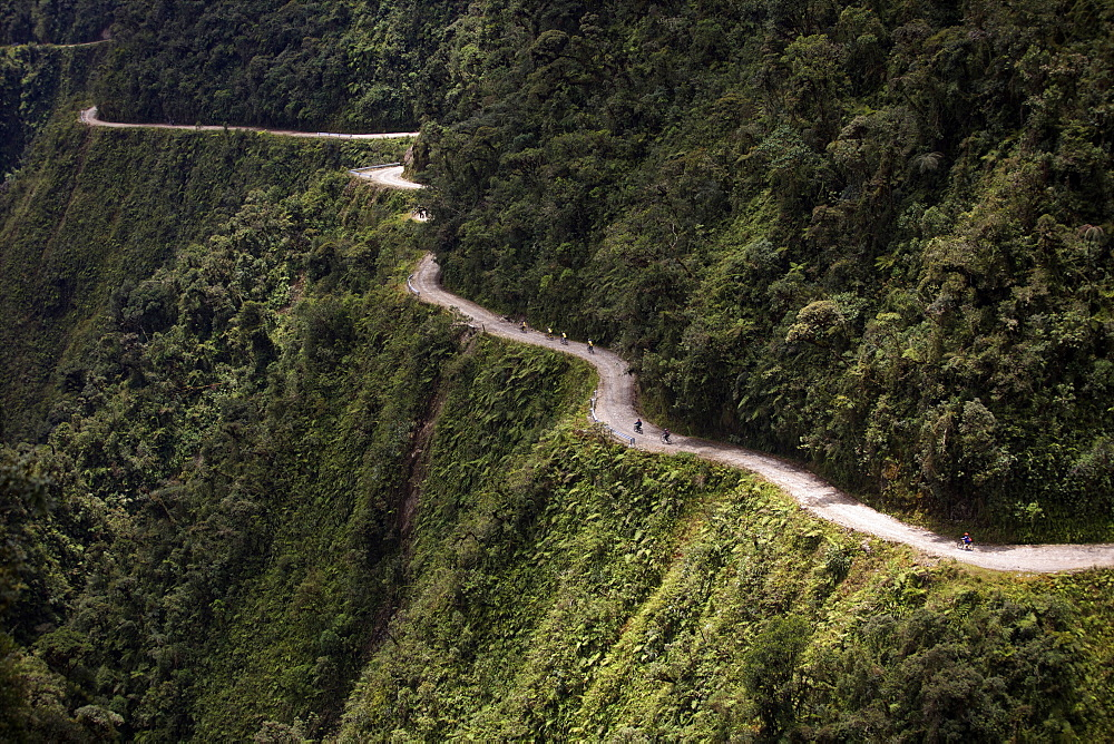 View of El Camino della Muerte, Yungas Valley, Bolivia, South America - 814-1586