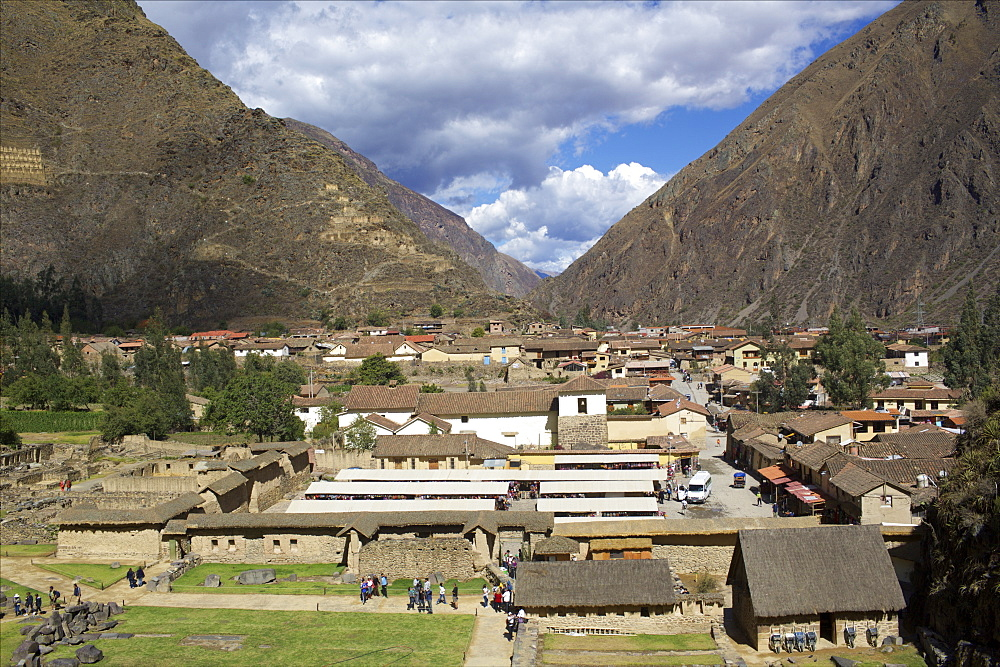 View over Salinas de Maras village, Sacred Valley, Peru, South America - 814-1588