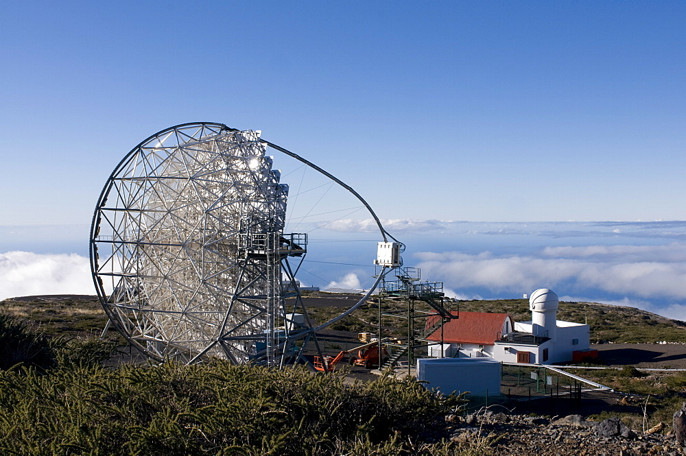 Astronomical observatory at top of the Taburiente, La Palma, Canary Islands, Spain, Europe