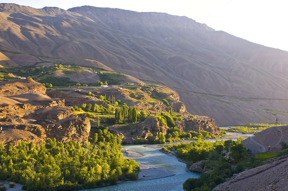 Shokh Dara Valley at sunset, Tajikistan, Central Asia