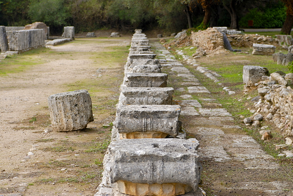 The ancient town of Olympia, UNESCO World Heritage Site, Peloponnese, Greece, Europe