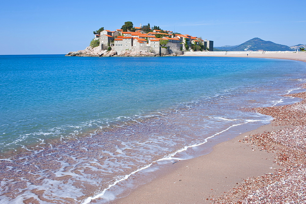 Sveti Stefan, seaside resort in western Montenegro, Europe