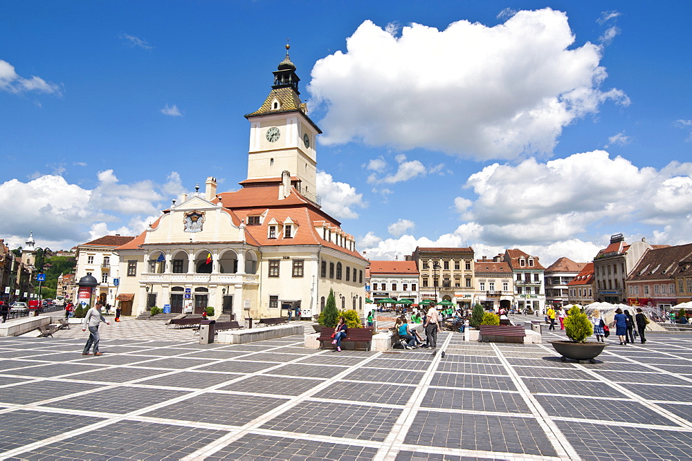 Brasov Council Square, Brasov, Transylvania, Romania, Europe - 816-3146