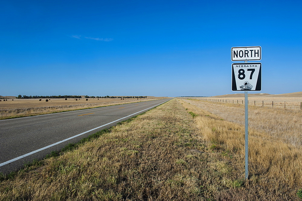 Route two through Nebraska, United States of America, North America