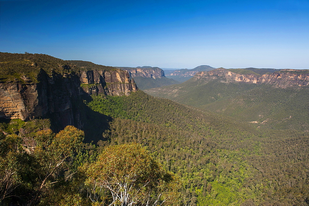 The rocky cliffs of the Blue Mountains, New South Wales, Australia, Pacific