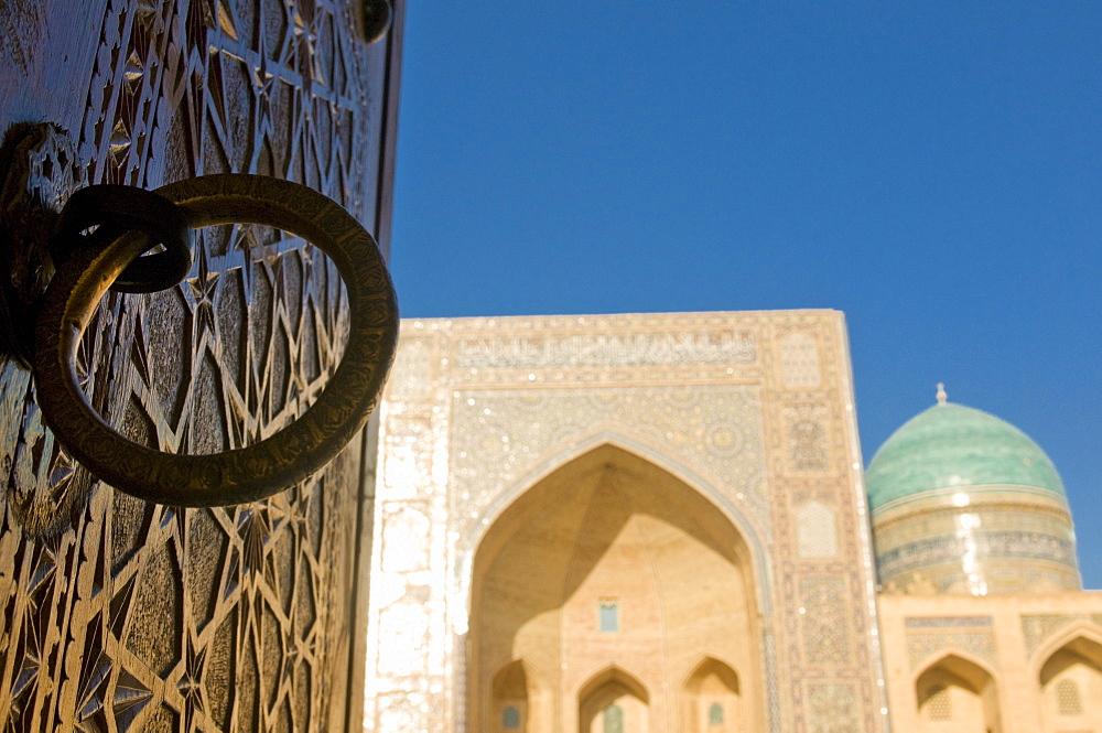 Mir-i-Arab Medressa, UNESCO World Heritage Site, Bukhara, Uzbekistan, Central Asia