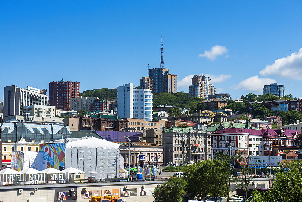 City skyline, Vladivostok, Russia, Eurasia