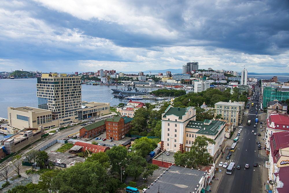 View over Vladivostok, Russia, Eurasia