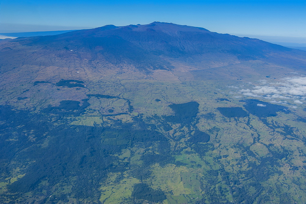 Aerial of Mauna Kea, Big Island, Hawaii, United States of America, Pacific