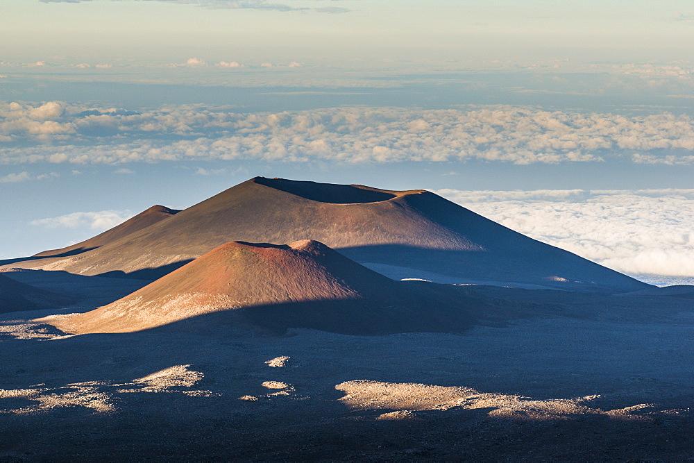 Volcanic cones on top of Mauna Kea, Big Island, Hawaii, United States of America, Pacific