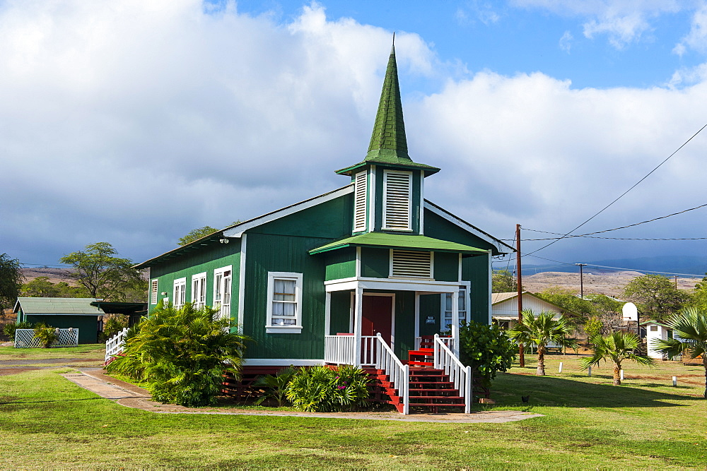 St. Sophia church in Kaunakakai, island of Molokai, Hawaii, United States of America, Pacific