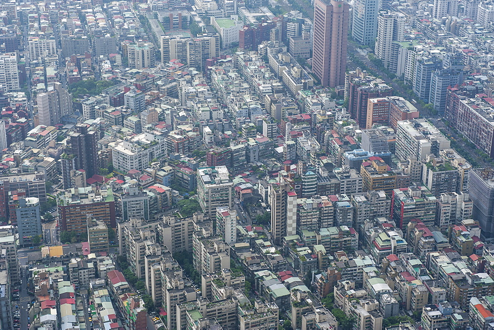View over Taipei from the 101 Tower, Taipei, Taiwan, Asia