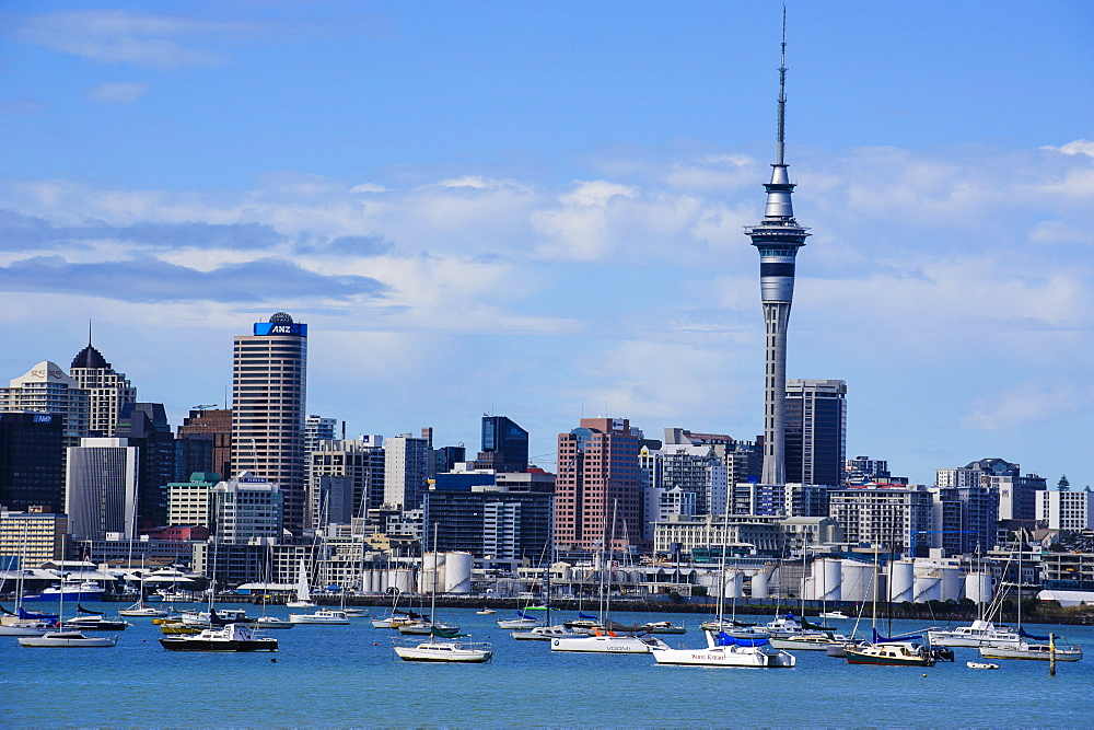 Skyline of Auckland, North Island, New Zealand, Pacific