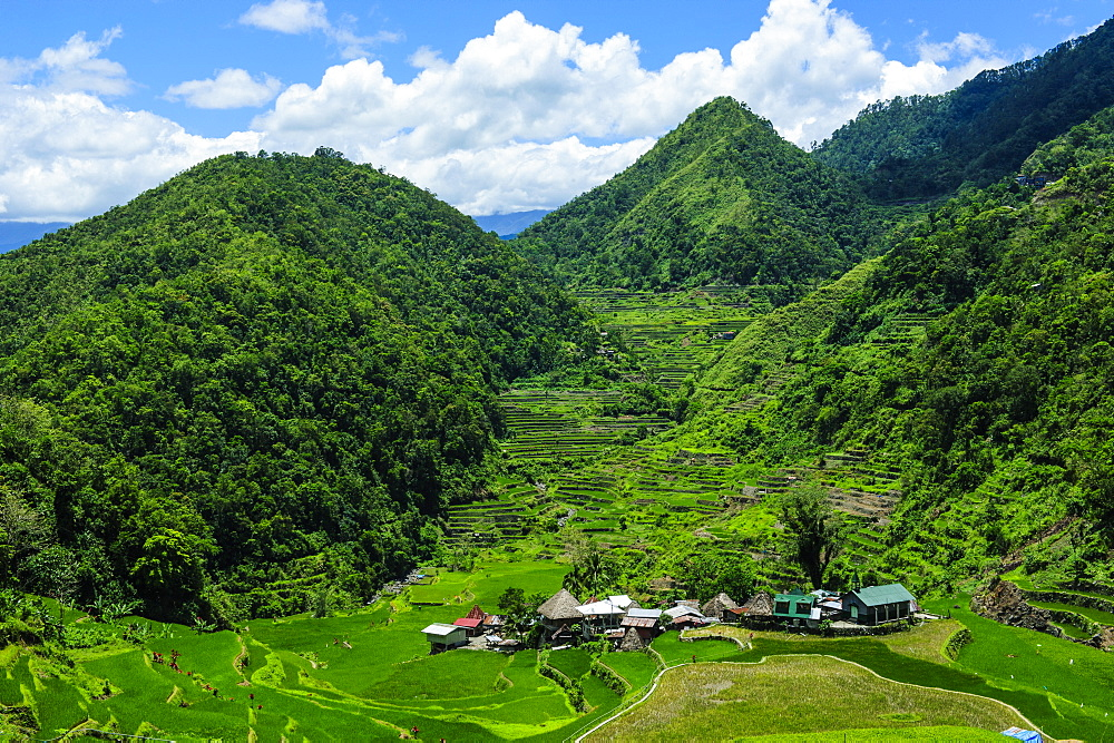 Bangaan in the rice terraces of Banaue, UNESCO World Heritage Site, Northern Luzon, Philippines, Southeast Asia, Asia
