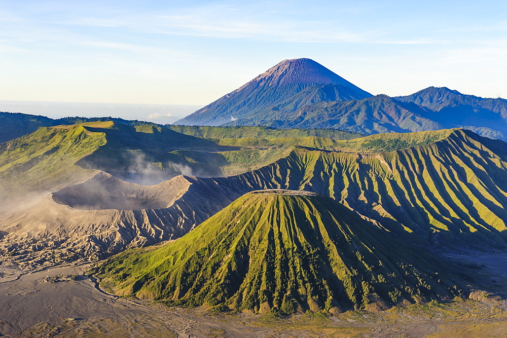 Mount Bromo volcanic crater at sunrise, Bromo Tengger Semeru National Park, Java, Indonesia, Southeast Asia, Asia