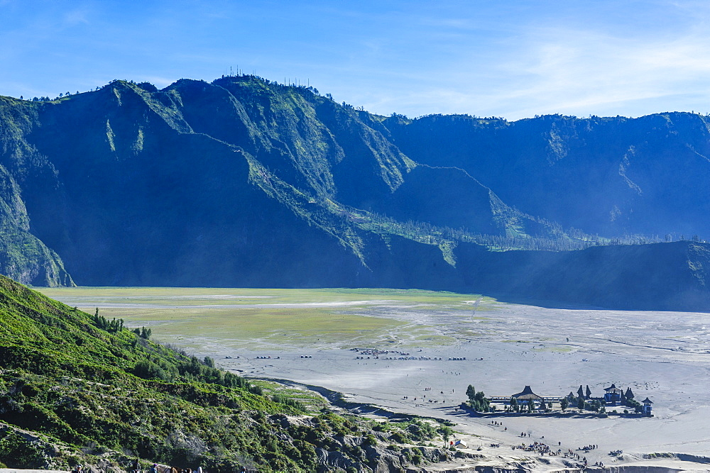 View over the Mount Bromo crater, Bromo Tengger Semeru National Park, Java, Indonesia, Southeast Asia, Asia