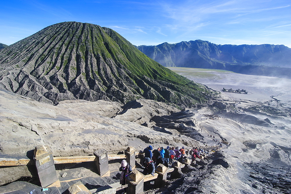Mount Bromo crater, Bromo Tengger Semeru National Park, Java, Indonesia, Southeast Asia, Asia
