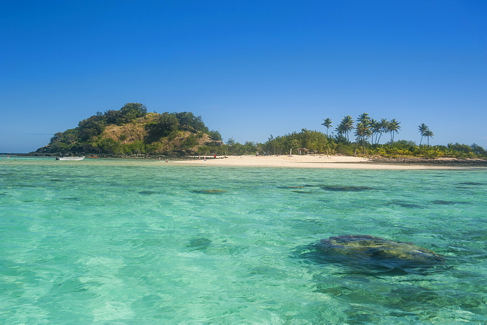 The turquoise waters of the blue lagoon, Yasawas, Fiji, South Pacific, Pacific