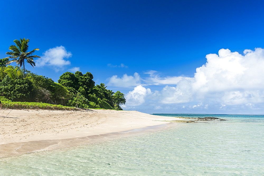 Little island with a white sand beach in Haapai, Haapai Islands, Tonga, South Pacific, Pacific