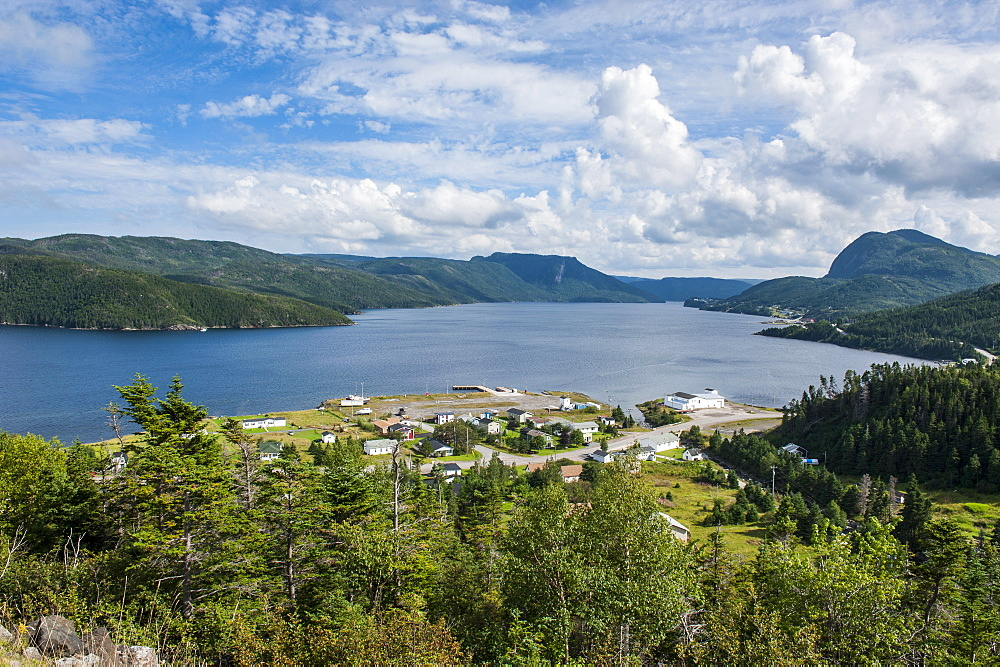 Overlook over Bonne bay on the East arm of the Unesco world heritage sight, Gros Mourne National Park, Newfoundland, Canada