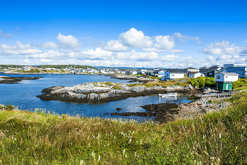 View over Port aux Basques, Newfoundland, Canada, North America